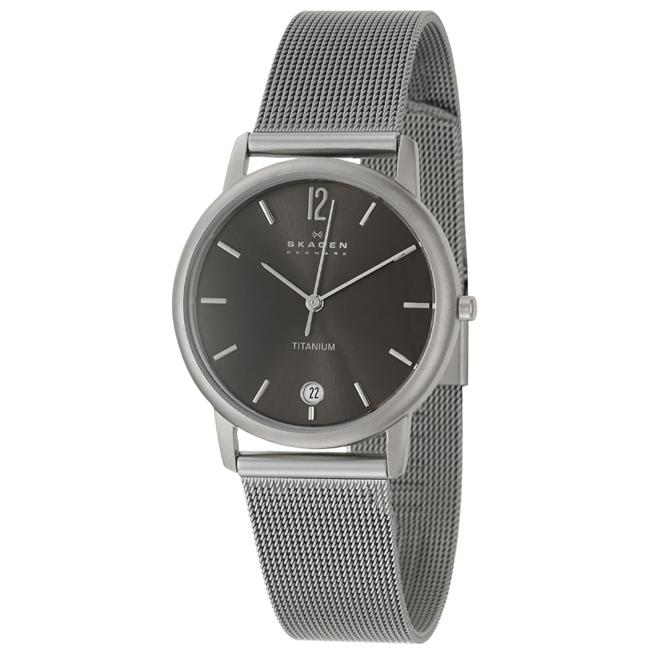 Skagen 'Titanium' Men's Titanium Quartz Date Watch