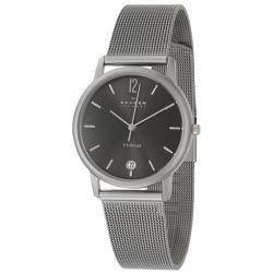 Skagen 'Titanium' Men's Titanium Quartz Date Watch