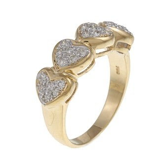 18k Yellow Gold 1/3ct TDW Heart Diamond Ring (G-H, SI1-SI2)