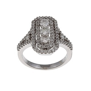 Kabella 14k White Gold 1 1/3ct TDW Diamond Cocktail Ring (G-H, SI1-SI2)