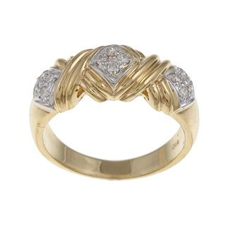18k Two-tone Gold 1/5ct TDW Diamond Ring (G-H, VS1-VS2)