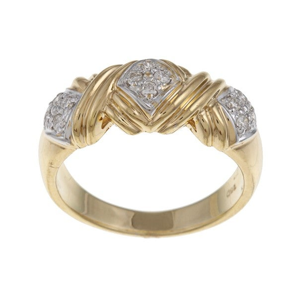 18k Two-tone Gold 1/5ct TDW Diamond Ring (G-H, VS1-VS2)