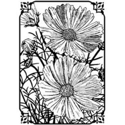 Magenta 'Two Flowers' Cling Stamps