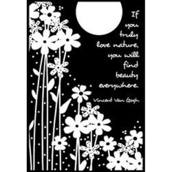 Magenta 'Find Beauty Everywhere' Cling Stamps
