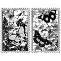 Magenta 'Butterfly Garden Duo' Cling Stamps