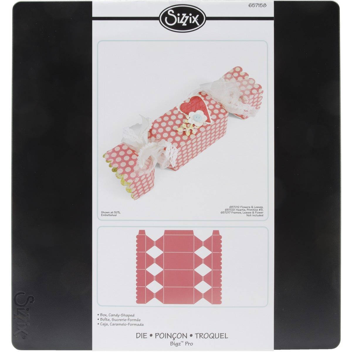 SIZZIX BY ELLISON Sizzix 'Candy Shaped Box' Bigz Big Shot Pro Die at Sears.com