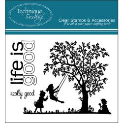 Technique Tuesday 'Life Is Good' Clear Stamps