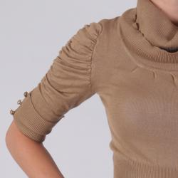 Ci Sono by Adi Junior's Ruched Cowlneck Knit Sweater