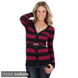 Ci Sono by Journee Junior's Striped Belted Cardigan