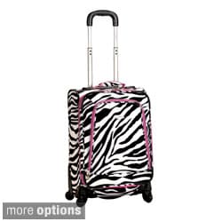 Rockland Zebra 20-inch Expandable Carry-on Spinner Upright