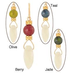 14k Yellow Gold Fill Gemstone 'Abey' Earrings