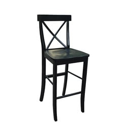 X-back Black Bar Stool