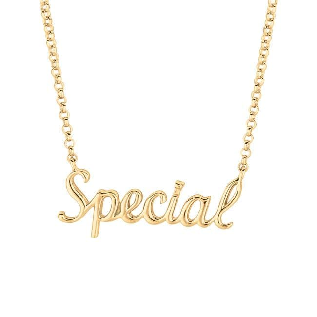 Gold over Silver Expression 'Special' Necklace