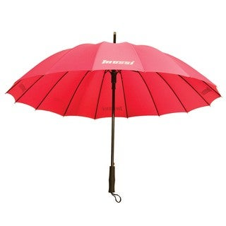 Salmon Pink Pongee Fabric Automatic Opening Mossi Deluxe Umbrella