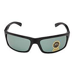 Unisex Onyx Black Plastic Fashion Sunglasses
