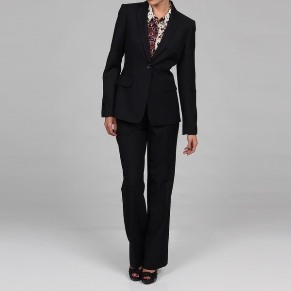 Perfect Calvin Klein Women39s Belted Jacket Pant Suit  13528116  Overstock