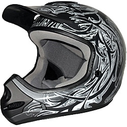 Adult's Raider MX-3 Black/Silver Thermosplastic Tribal Scream Helmet