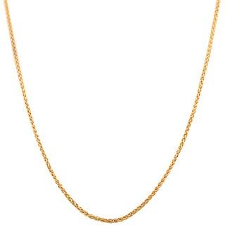 14k Rose Gold Round Wheat Chain (16-20 inch)