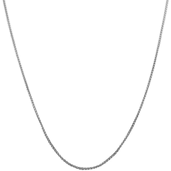 Fremada 14k White Gold Round Wheat Chain (16-20 inch)