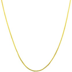 Fremada 14k Yellow Gold 18-inch Round Wheat Chain