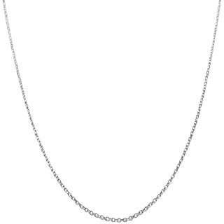 14k White Gold Diamond-cut Cable Chain (16 - 24 inch)