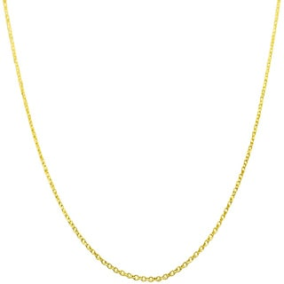 Fremada 14k Yellow Gold Diamond-cut Cable Chain (16- 24 inch)