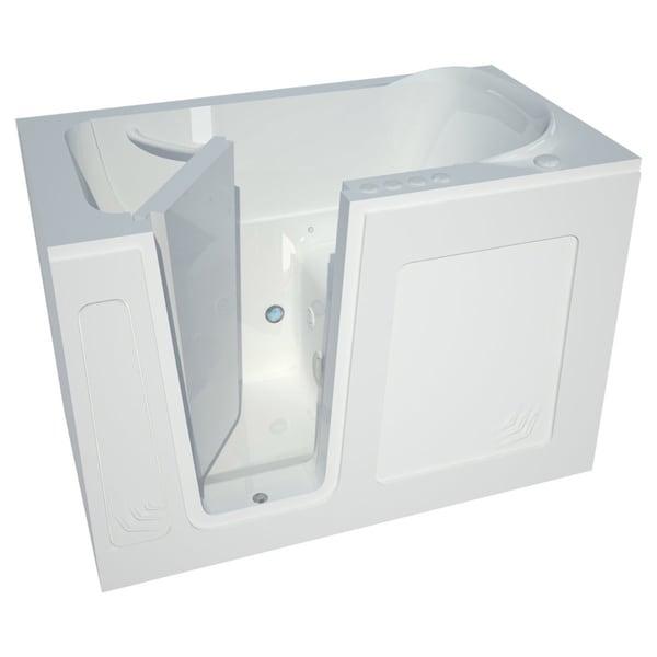 Meditub 54-inch Lefthand White Walk-in Combo Tub