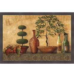 Kristy Goggio 'Italian Topiary Still Life' Framed Print Art