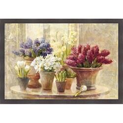 Danhui Nai 'Spring Bulb Still Life' Framed Print Art