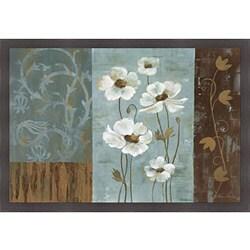 Silvia Vassileva 'Blue Iridescent Anemones' Framed Print Art