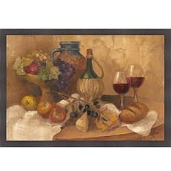Albena Hristova 'Abundant Table with Pattern' Framed Print Art