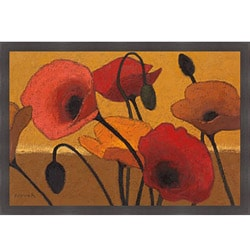 Shirley Novak 'Poppy Curry III' Framed Print Art