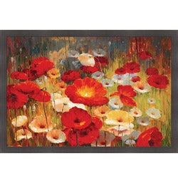 Lucas Santini 'Meadow Poppies I' Framed Print Art