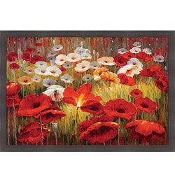 Lucas Santini 'Meadow Poppies II' Framed Print Art