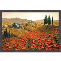 Steve Wynne 'Hills of Tuscany II' Framed Print Art