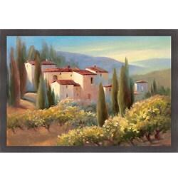 Carol Jessen 'Blue Shadows in Tuscany II' Framed Print Art