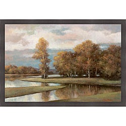 T.C. Chiu 'Winding River II' Framed Print Art