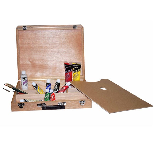 Royal Elm Artist Carry Case/ Box with 16.5 x 11.5 Palette