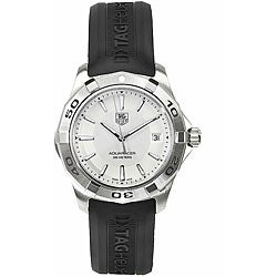 Tag Heuer Men's Aquaracer Watch with Silver Dial