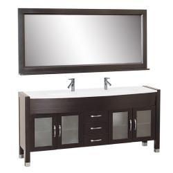 Elle 72-inch Double-sink Bathroom Vanity Set
