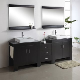 Jeffrey 90-inch Double-sink Bathroom Vanity Set