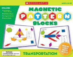 Transportation Magnetic Pattern Blocks (Hardcover)