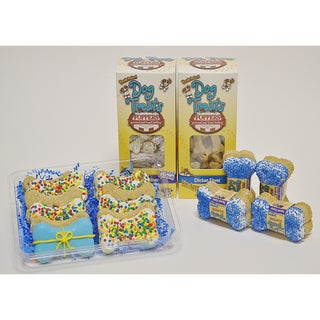 Foppers Blue Happy Birthday 178 piece Dog Treat Gift Set