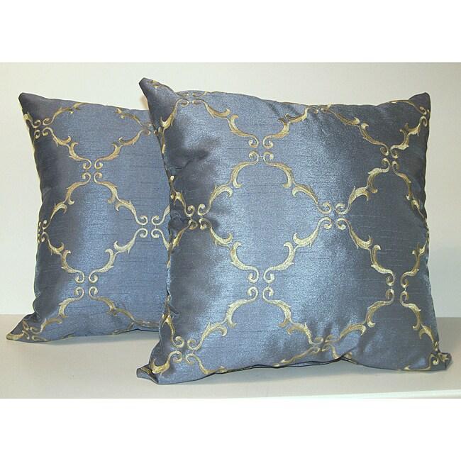 Solistice Diamond Slate Pillows (Set of 2)