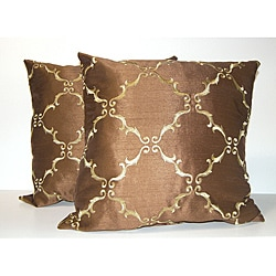 Solistice Diamond Chocolate Pillows (Set of 2)