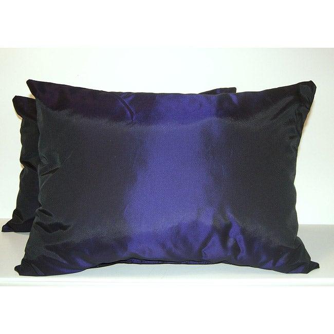 Purple Taffeta Decorative Pillows (Set of 2)