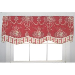 Cameo Toile W/Floral Stripe Valance
