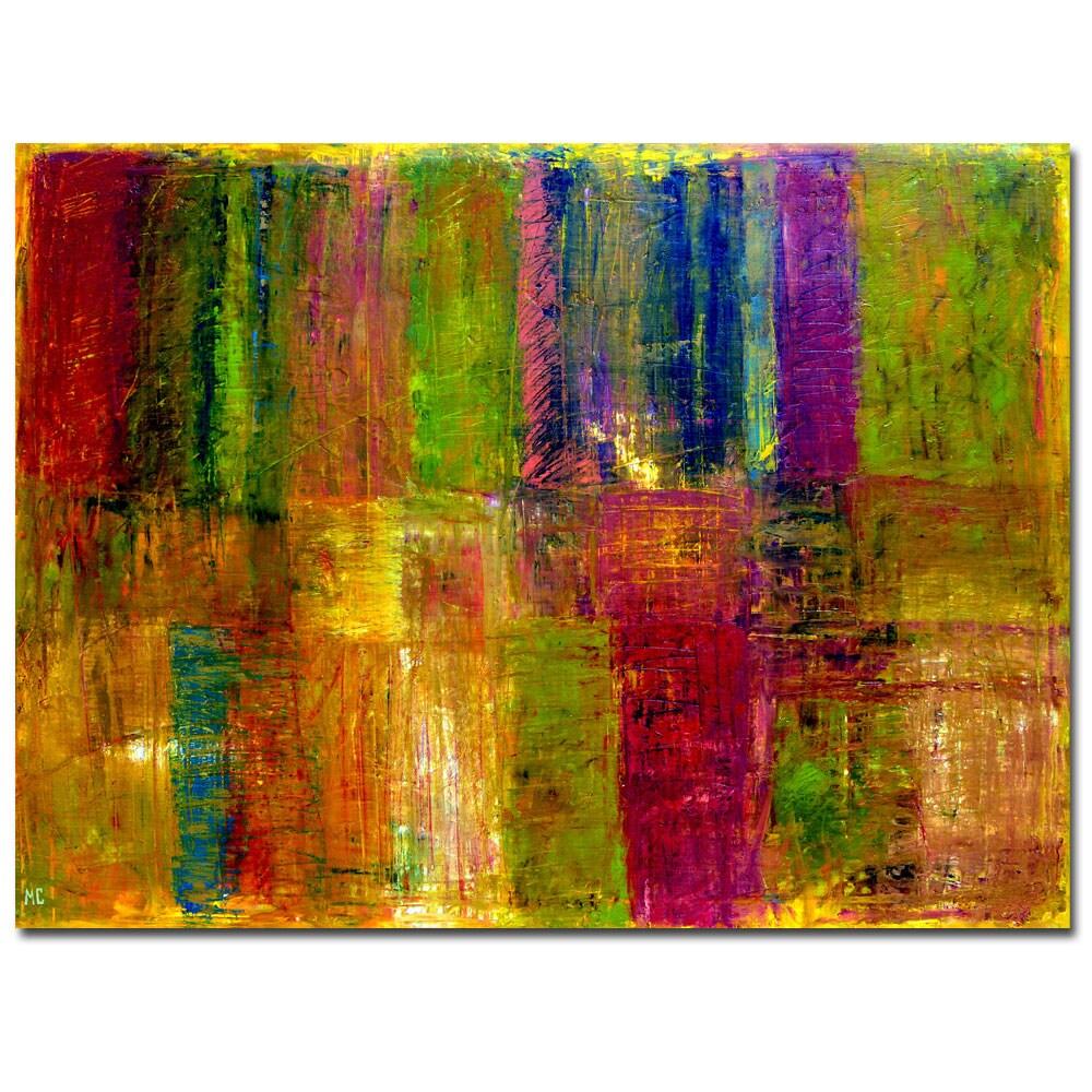 Michelle Calkins 'Color Panel Abstract' Canvas Art
