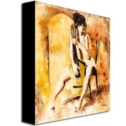 Joarez 'Love Song' Vertical Canvas Art