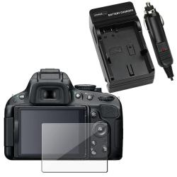 Charger Set/ Screen Protector for Nikon D5100